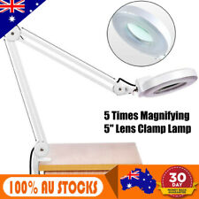 5x Magnifying Lamp 5in SMD 5 Diopter Magnifier Desk Light With Adjustable 180