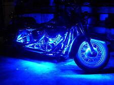 4pcs Blue12V 30Cm 15SMD LED Waterproof Flexible Strip Light For Harley-Davidson