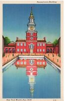 Unused Postcard 1939 New York World's Fair Pennsylvania Building