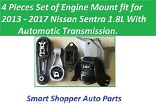 4 PCS Set fit for 2013 - 2017 Nissan Sentra 1.8L Automatic Motor Mount