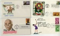 US Covers 1980s Hand Painted FDC