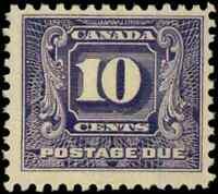 Canada #J10 mint F-VF OG NH 1930-1932 Second Postage Due Issue 10c dark violet
