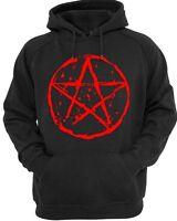 Pentagramma Felpa con Cappuccio Uomo Donna Gotico Punk Rock Satanico Unholy