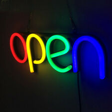 Open Led Neon Light Sign Tube Handmade Visual Artwork Bar Pub Club Wall Decor
