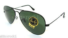 Authentic RAY-BAN Matte Black Aviator Sunglasses RB 3025 - W3329 *NEW* 58mm