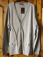 MENS LIGHT GREY SAINT GEORGE by DUFFER CARDIGAN SIZE XXL New with Tags RRP.£35