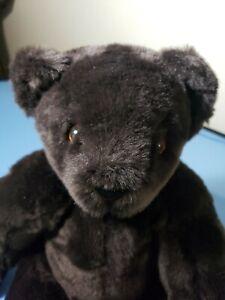 "Vermont Teddy Bear Jointed Dark Brown Bear 14"""