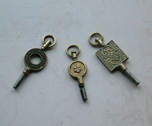 Antique Pocket Watch Keys, Samuel Manchester, J Truscotte Gloucester.