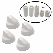 Four UNIVERSAL for NEFF Oven Hob White Control Knob & Twenty Adapters
