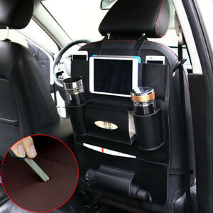Universal Car Leather Seat Back Bag Organizer Storage Holder Pouch Multi-Pocket
