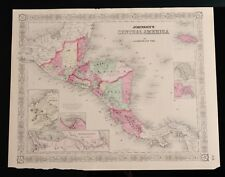 Antique 1866 Map, Johnson's Central America, by A.J. Johnson New York, Page# 69