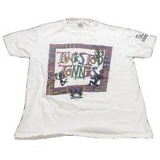 Vintage 90's Adidas Twisted Tennis T-Shirt Men's sz XL TEE Single Stitch Sports