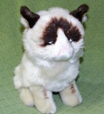 "GRUMPY CAT Gund 9"" Plush Stuffed Kitten 4040133 Tardar Sauce Silver Eyes Grouchy"