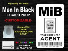 MIB (Men In Black) ID Badge / Card Prop - CUSTOMIZABLE WITH YOUR NAME & PHOTO