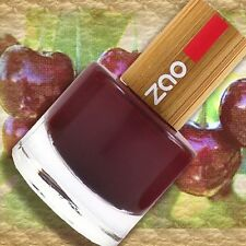 Zao NAIL-Polish 659 SMALTO BLACK CHERRY SchwarzRot 8ml coperchio in bambù 7-Free