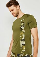 Nike Men's Pro Camo Printed Fitted Training Top CD7672 Green S M L
