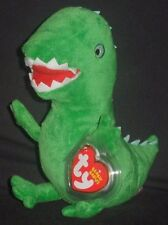 TY MR. DINOSAUR BEANIE BABY - UK EXCLUSIVE PEPPA PIG THEME PARK - MINT TAG