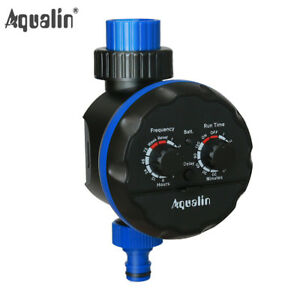 Garden Waterpoof Water Timer Ball Valve Irrigation Controller With Delay Action