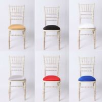 REMOVABLE SEAT PAD COVER ELASTIC EDGE For Chivari WEDDING CHAIRS Slipcover