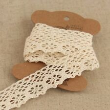 Women Embroidered DIY Craft Ribbon Lace Trims Beige Sewing Accessories 10 Yards