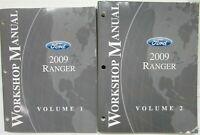 2009 Ford Ranger Pickup Truck Service Shop Repair Manual Set Vol 1 & 2