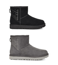 UGG Women's Boots UGG Classic Mini 2 II Studded Boots - Black/Charcoal