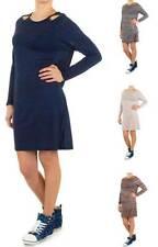 Markenlose Damenkleider mit Rundhals-Ausschnitt aus Polyester
