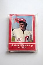 1983 Star Company MIKE SCHMIDT Complete Set of 15 Cards UNOPENED