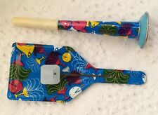 Vintage New Years Tin Horn And Clapper Noisemakers 1960's Lot Of 2