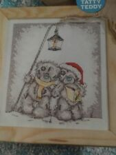 THE FIRST NOEL TATTY TEDDY BEARS CAROL SINGING UNDER LANTERN CROSS STITCH CHART