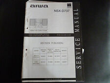 ORIGINALI service manual AIWA nsx-d737