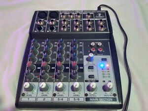 Behringer Xenyx 802 Premium 8-Input 2-Bus Mixer with Xenyx Mic Preamps and Brit…