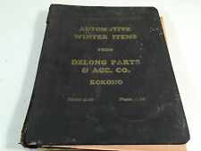 1950's Automotive Winter Items From Delong Parts & Acc. Co. Kokomo Indiana