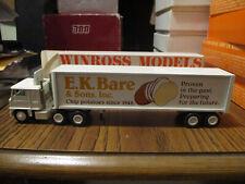 WINROSS TRUCK MIB E.K. BARE CHIP POTATOES W/ REEFER TRAILER