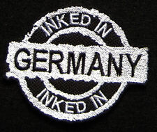 Inked In Germany-Patch ricamate-Tatuaggio
