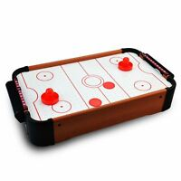 Kids Table Top Mini Air Hockey Paddle Pushers Pucks Toy Family Game Xmas Gift