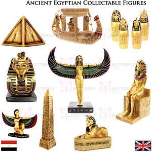 Ancient Egyptian Golden Figurines Tutankhamen Rameses II Sphinx Pyramid Isis New