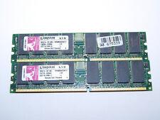 LOTE 2 MÓDULOS MEMORIA RAM DDR400 KINGSTON 512MB 400MHz KVR400X64C3A/512