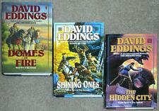 DAVID EDDINGS TAMULI TRILOGY HC ~ DOMES OF FIRE Shining Ones HIDDEN CITY 1st EDS