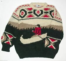 ISLE OF SANDAY KNITTERS sweater made in Scotland sz. M - L men's EUC