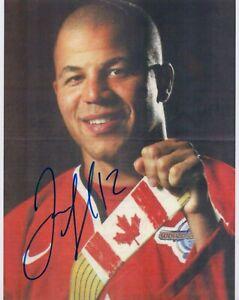 "JAROME IGINLA signed Autographed ""TEAM CANADA"" 8X10 PHOTO - Calgary Flames COA"