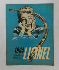 1964 LIONEL MODEL TRAINS ANNUAL CATALOG BROCHURE ORIGINAL