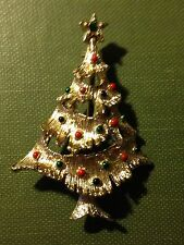 Christmas Tree with Star Pin Brooch, XMas Jewelry