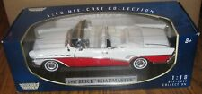 1957 Buick Roadmaster Convertible Collector Car 1:18 RED Motormax Toy Die Cast