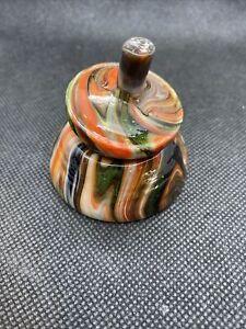 Davis Glass spinner top with base Marley Run 2008 Jabo Glass
