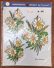 Flower Decal Hand Painted Effect Vintage 1979 Decorcal new in package A-38