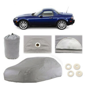 Mazda MX-5 Miata 4 Layer Car Cover Fitted Outdoor Water Proof Rain Snow Sun Dust