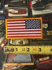 New listing American Flag Biker Patch Gold Left embroidered Usa Patch!
