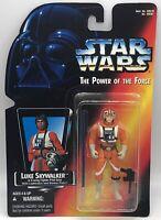 Star Wars POTF 2 1995 Luke X-Wing Long Saber- Red Card - MINMP – Action Figure