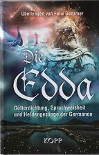 DIE EDDA - Felix Genzmer BUCH - KOPP VERLAG - NEU